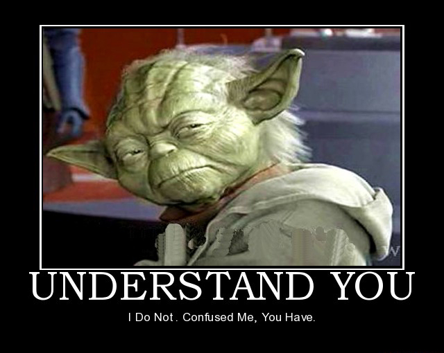 yoda confuse The Cult of Martial Arts?
