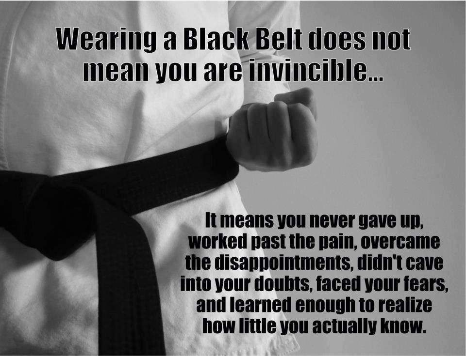 Black Belt Its good to talk...Communication in Martial Arts.