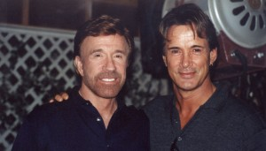 Richard and Chuck Norris 1024x584 300x171 Film Star and Bodyguard   Richard Norton Interview Part 2